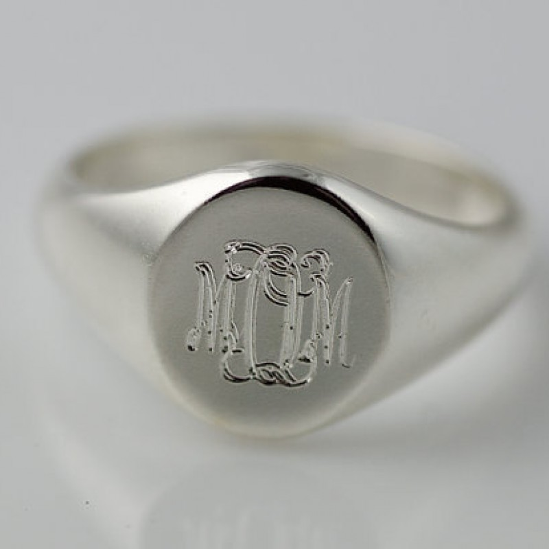 65db4a19ea865 Monogram Ring Sterling Silver Initials Personalized Engraved - Bridesmaid  Gift - Mother - Mom Gift