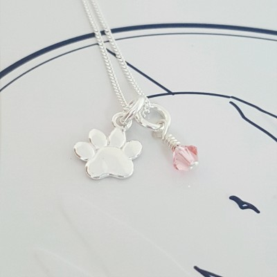 Paw Necklace, PawPrint Necklace, PawPrint Jewellery, PawPrint Necklace, Paw Charm, Tiny Paw Charm