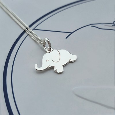 Sterling Silver Elephant Necklace, Silver Elephant Necklace, Elephant Necklace, Elephant Charm, Gift For Her, Alexia Jewellery