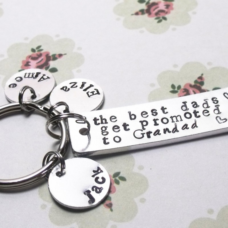 The Best Dads Get Promoted to Grandad, Personalised Gift For Dad / Father, For Grandad / Grandpa / Grandfather, Husband