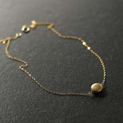 Dahlia - minimal 18k gold vermeil necklace - delicate gold necklace - gold pendant necklace - gold circle necklace - gift for mother