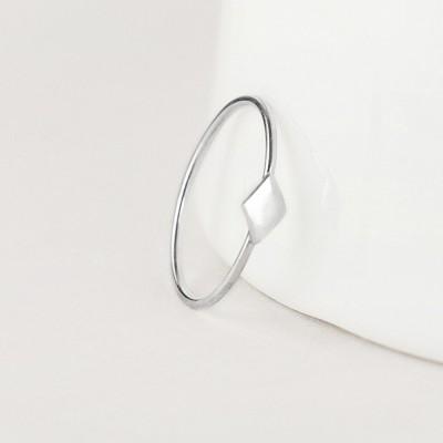 Paragon - fine silver ring - geometric ring - sterling silver ring - thin ring - stacking ring - ring gift