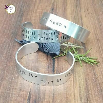 Chunky Wide Metal Bracelet, Custom Design Cuff Bracelet, Gifts For Him, Hand Stamped Cuff Bracelet,