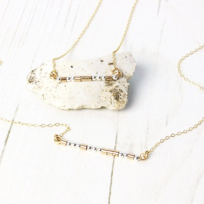 Delicate Morse Code Necklace / 18k Gold Fill & Sterling Silver / Personalised Necklace / Minimalist / Gift For Her