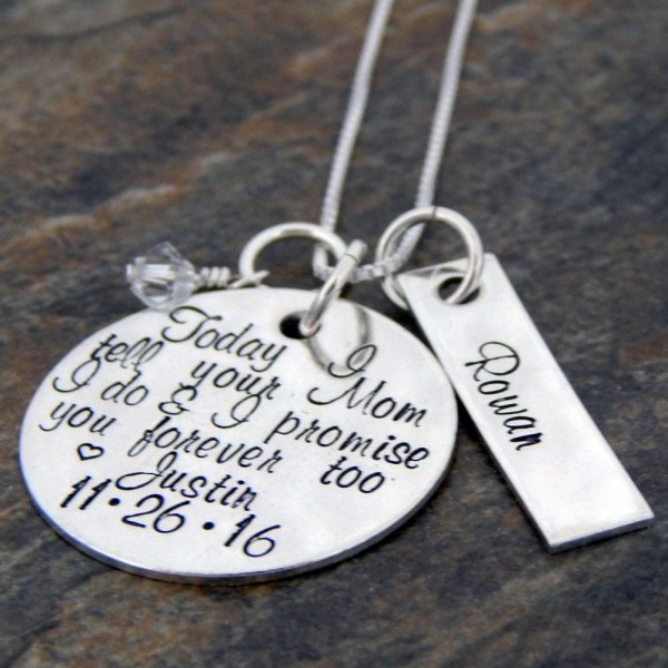 Personalized Gift For Future Step Daughter Sterling Silver Wedding