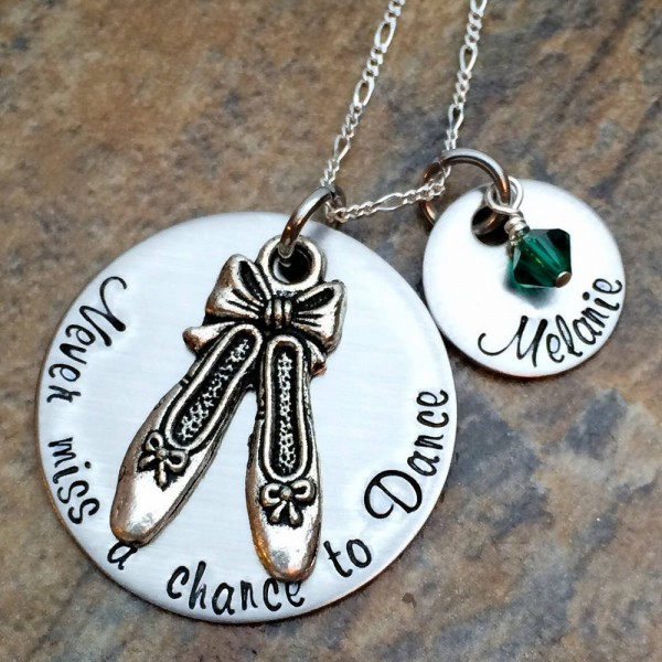 Personalized Necklace For Ballerina