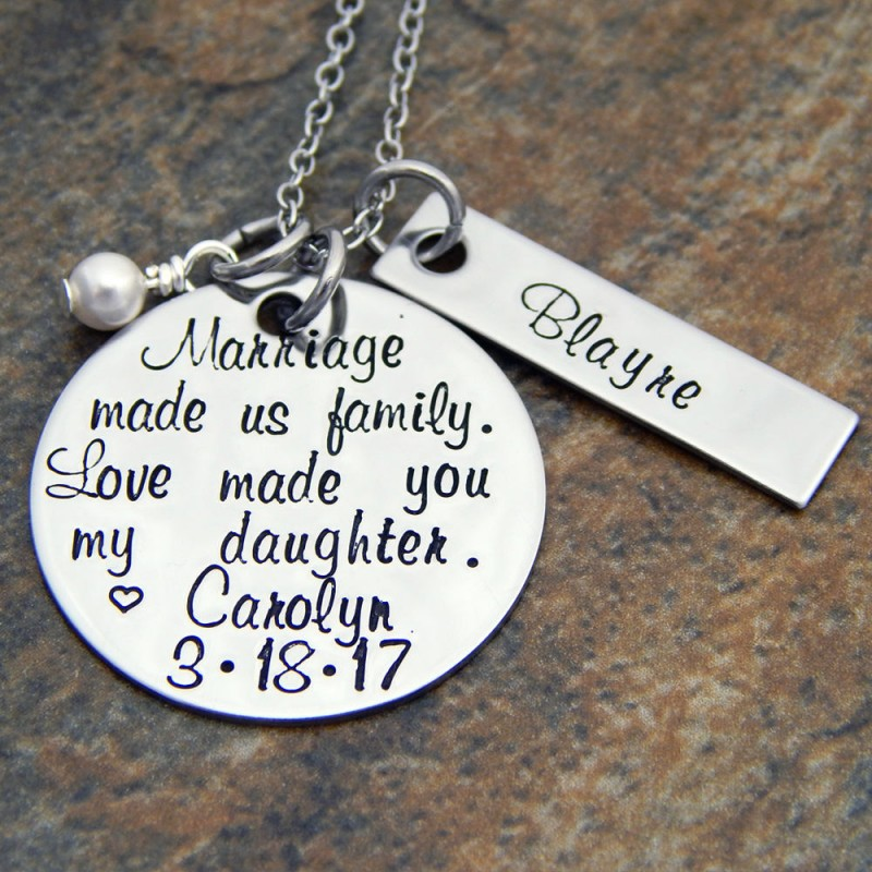 Personalized Step Daughter Wedding Gift Grooms Daughter Wedding