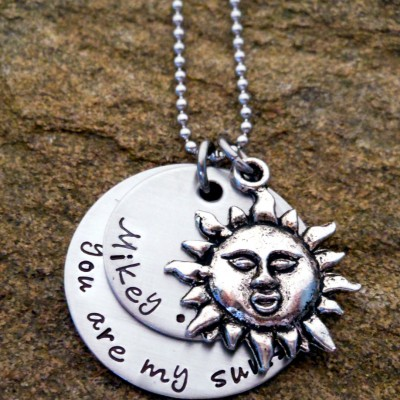 Personalized You Are My Sunshine Necklace With Childrens Names