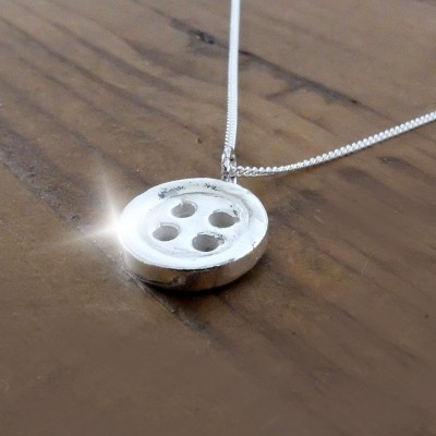 Gift for Mum, Mothers Day Gift, Silver Button Necklace with Quote, Little Button Necklace, Gift for Mom, Mums are Like Buttons