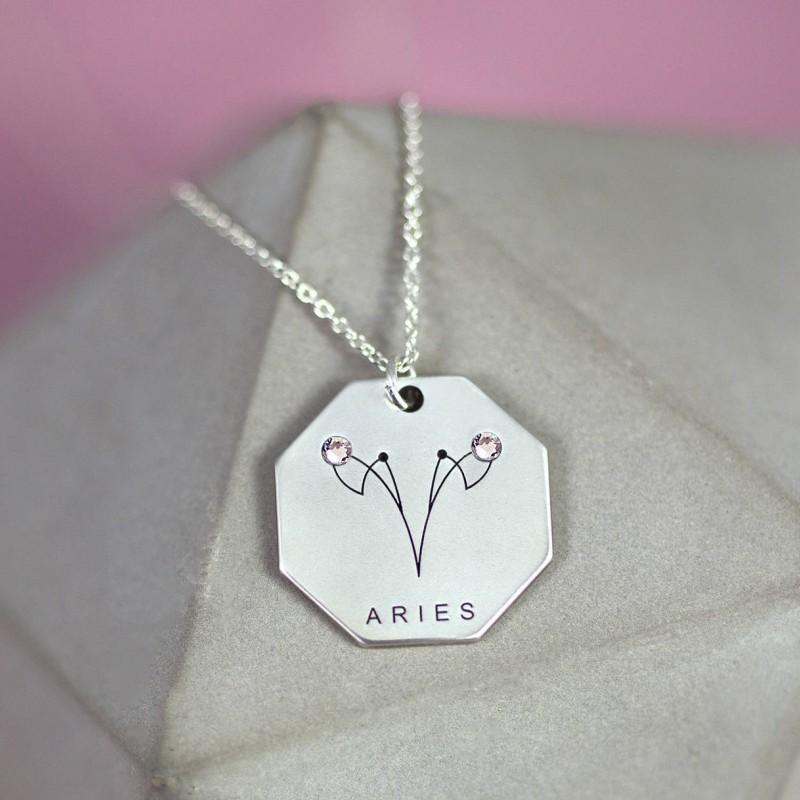 Aries Jewelry Gift | Sterling Silver | Aries Zodiac Jewelry