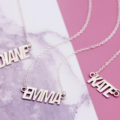 Nameplate Necklace | Sister Necklace Set | Bestfriend Necklace | Custom Name Necklace | 3 Best Friends | Three BFF Necklace | Soul Sisters