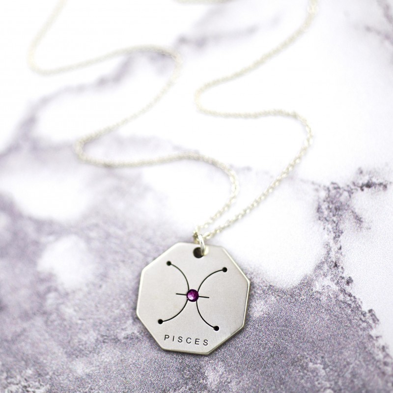 Pisces Zodiac Sterling Silver Pisces Jewelry Horoscope