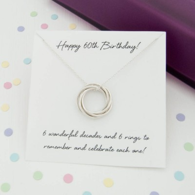 60th Birthday Gift For Her Jewelry Mum