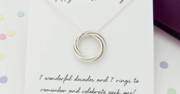 70th Birthday Gift For Her Jewelry Mom