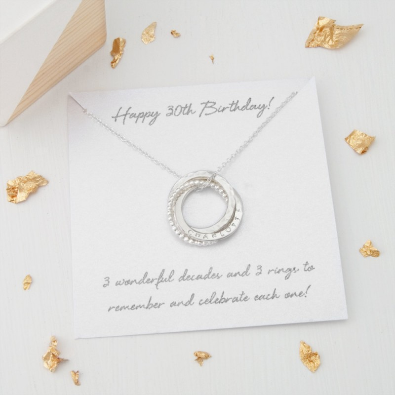 Personalised 30th Birthday Gift For Her Personalized Necklace