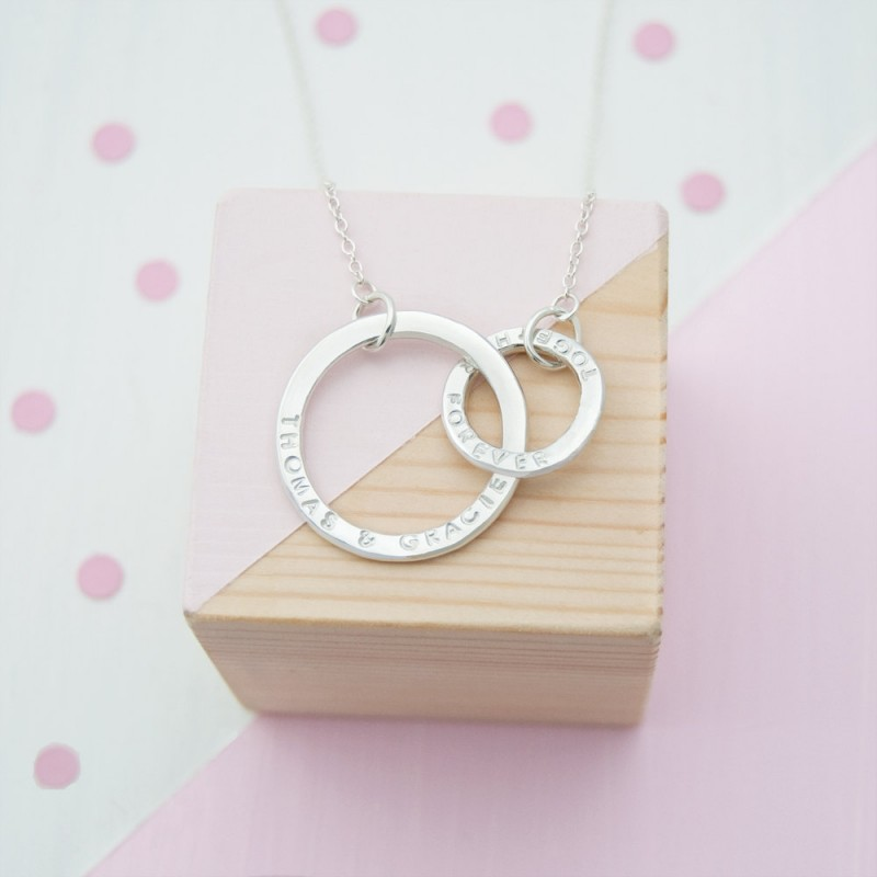 Personalised Eternity Necklace, Infinity Necklace, Gift For Wife, Engagement Gift, Anniversary Present, Wedding Gift, Bridal Jewellery