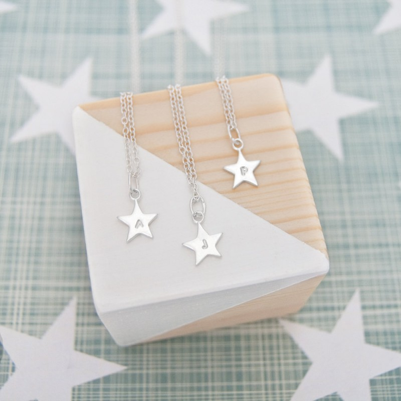 Personalised Initial Necklace Silver Star 18th Birthday Gift For Daughter Ideas 16th Her