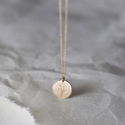 Thoughtful Jewelry Gift for Her: Wildflowers, Special Edition Floral Bouquet Necklace in Gold, Silver or Rose Gold • Unique Gift LN209 LN213
