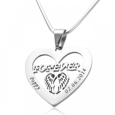 Angel in My Heart Necklace - Silver - The Handmade ™