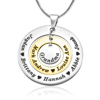 Circles of Love Necklace - TWO TONE - - The Handmade ™