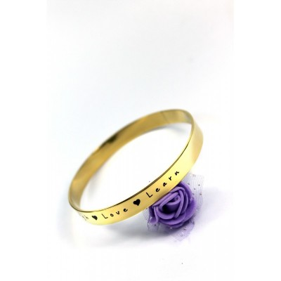 Personalised 8mm Endless Bangle - Gold - The Handmade ™
