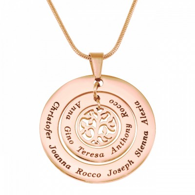 Circles of Love Necklace Tree - Rose Gold - The Handmade ™