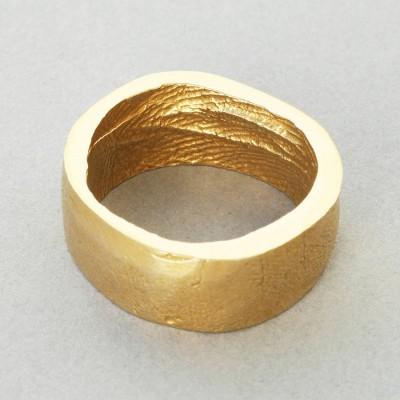 Yellow Gold Bespoke Fingerprint Ring - The Handmade ™