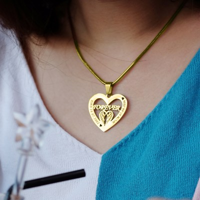 Angel in My Heart Necklace - Gold - The Handmade ™