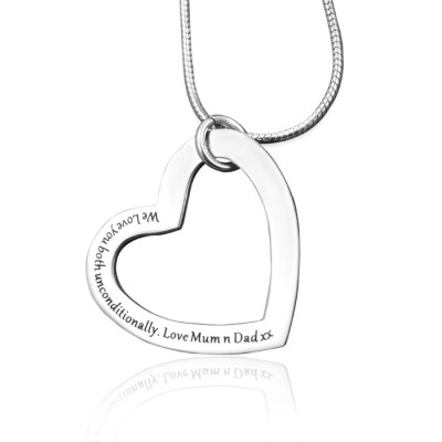 Always in My Heart Necklace - Silver - The Handmade ™