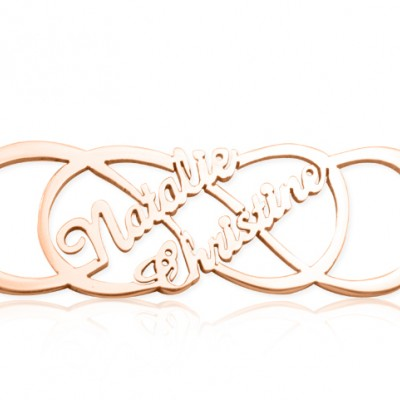 Infinity X Infinity Name Necklace - Rose Gold - The Handmade ™