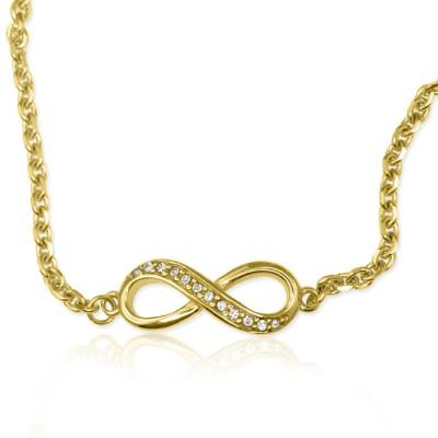 Crystal Infinity Bracelet - Gold - The Handmade ™