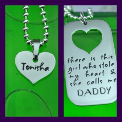 Dog Tag - Stolen Heart - Two Necklaces - Silver - The Handmade ™