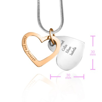 Love Forever Necklace - Two Tone - Rose - The Handmade ™
