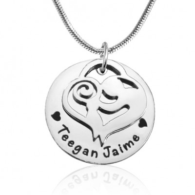 Mother's Disc Single Necklace - Silver - The Handmade ™