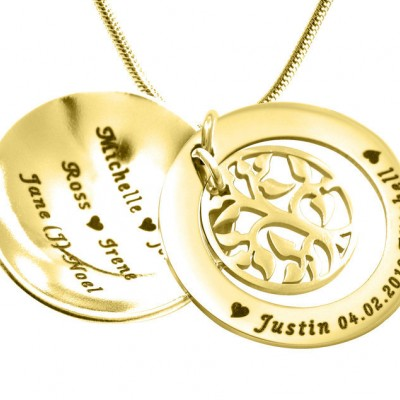 Family Tree Dome Necklace - Gold - The Handmade ™