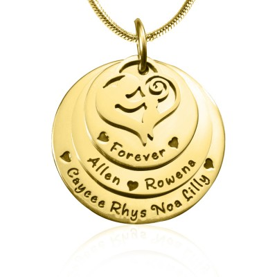 Mother's Disc Triple Necklace - Gold - The Handmade ™