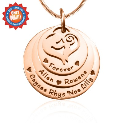 Mother's Disc Triple Necklace - Rose Gold - The Handmade ™