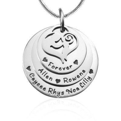 Mother's Disc Triple Necklace - Silver - The Handmade ™