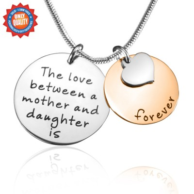Mother Forever Necklace - Two Tone - Rose Silver - The Handmade ™