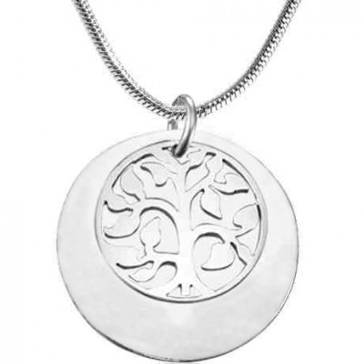 Personalised My Family Tree Single Disc - Silver - The Handmade ™