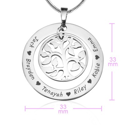 Family Tree Necklace - Silver - The Handmade ™