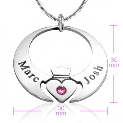 Queen of My Heart Necklace - Silver - The Handmade ™