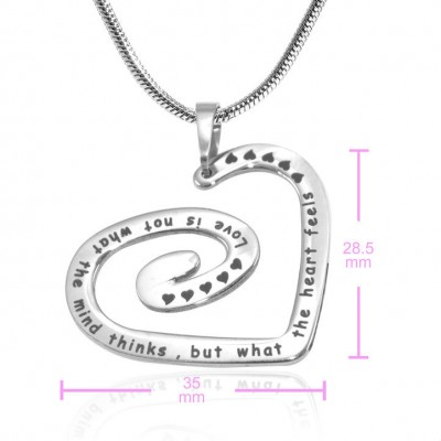 Swirls of My Heart Necklace - Silver - The Handmade ™
