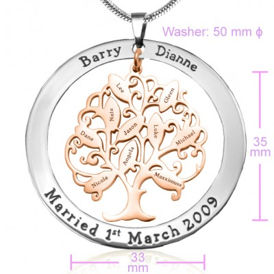 Personalised Tree of My Life Washer 10 - Two Tone - Rose Gold Tree - The Handmade ™