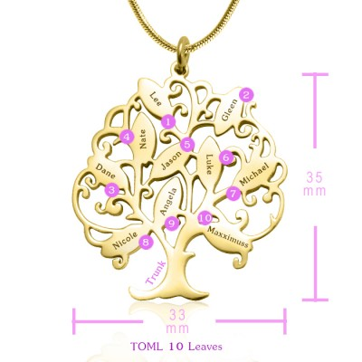 Tree of My Life Necklace 10 - Gold - The Handmade ™