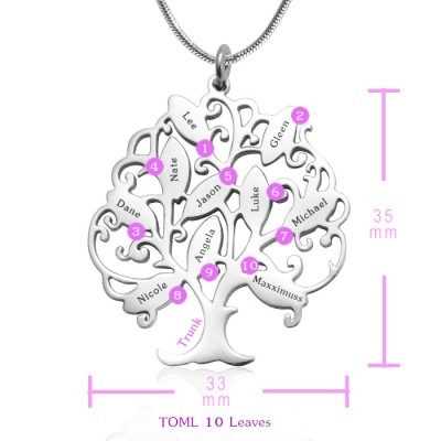 Tree of My Life Necklace 10 - Silver - The Handmade ™