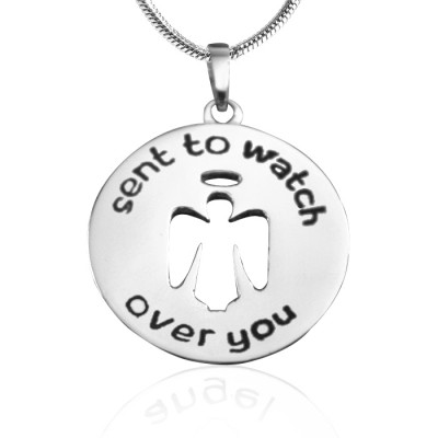 Guardian Angel Necklace 2 - Silver - The Handmade ™