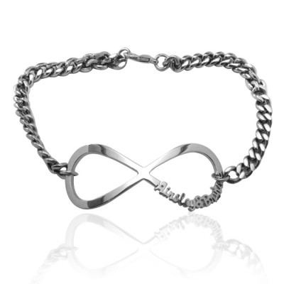Infinity Name Bracelet - Silver - The Handmade ™