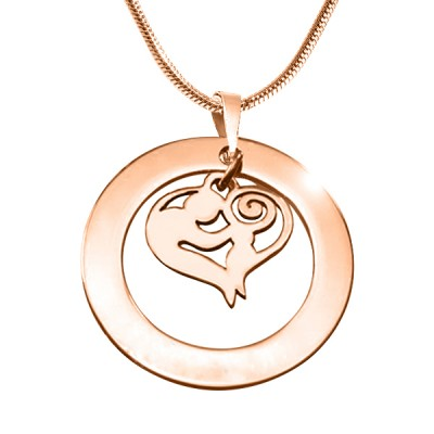 Mothers Love Necklace - Rose Gold - The Handmade ™