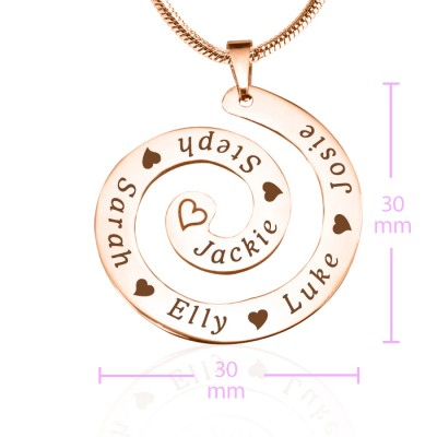 Swirls of Time Necklace - Rose Gold - The Handmade ™